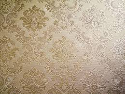 Light Brown Tone Damask Style Wallpaper Pattern Background Stock