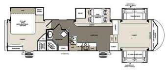 Fifth Wheel Bunkhouse Floor Plans by New 2015 Forest River Rv Sandpiper 366fl Fifth Wheel At Castle