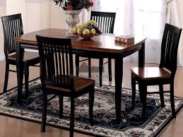 Black Kitchen Table In Cool Round Set