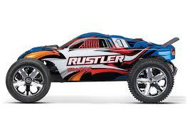 100 Traxxas Stadium Truck Rustler XL5 2WD RTR RC 370541