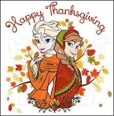 Frozen Anna Elsa Thanksgiving INSTANT DOWNLOAD Digital Clip Art DIY Iron On Transfer For T