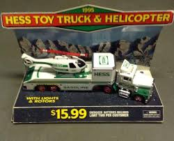 NIB 1995 Hess Toy Truck And Helicopter With Rare Store Counter ...