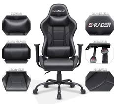 Homall Office Gaming Chair Carbon PU Leather Reclining Black Racing Style,  Executive Ergonomic Hydraulic Swivel Seat With Headrest And Lumbar Support  ... Executive Comfort Office Chair Grey 097002 Everking High Back Mesh Ergonomic Eames Premium Leather Replica Black Xl Ribbed Pu Swivel Computer Desk Orange Amazoncom Jykoo Home 360 Screen With Silver Arms Eaging Seat Seating Likable Walnut Jackson Plywood Ryt Siamese Cover Armchair Protector Task Slipcover Internet Bar Chairs More Best Buy