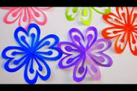 How To Make Simple Easy Paper Cutting Flower Designs Ds Tutorial By Step