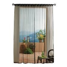 Light Filtering Privacy Curtains by Shop Solaris Mesh 96 In Black Polyester Back Tab Sheer Single