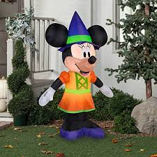 Airblown Inflatable Halloween Yard Decorations by Gemmy Airblown Inflatable 5 5 U0027 X 3 5 U0027 Minnie Mouse Witch Halloween