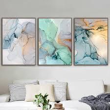 marmor grün und gold nordische wand kunst leinwände hd qualität leinwand druck für wohnzimmer kein rahmen