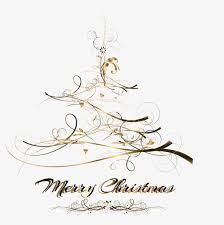 Black Gold Christmas Tree Vector PNG And
