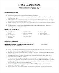 Medical Laboratory Technologist Resume Sample Technician Examples Lab