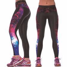 2017 womens yoga workout gym digital printing sports pants