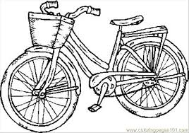 Old Bike Coloring Page