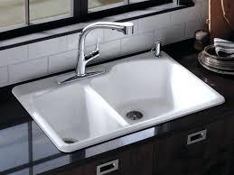 kohler hartland undermount kitchen sink langlade double basin cast