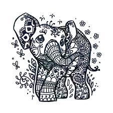 Baby Girl Elephant Design Drawings