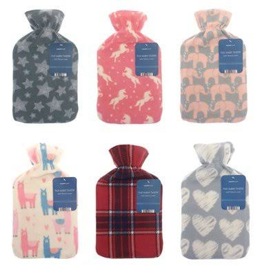 Country Club Hot Water Bottle Printed Fleece