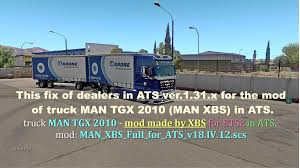 Fix Of Dealers For MAN TGX 2010 In ATS 1.31.x | Allmods.net Trucks Dealer Site Volvo Ford Dealers Truck Buyers Ready For Alinum F150 Motor Trend Jim Browne Chevrolet Tampa Bay New Chevy Used Car Dealership At Alaide Isuzu Vertical Storage Solutions Vnl 670 V 152 By Aradeth Ats V16 American 1980 The Only Diesel Around Dealer Sales Folder Ram Truck Dealers Blog Post List Roberts Dodge Chrysler Jeep Ram Truck Dealers Used In Lebanon Nh Lifted Jeeps Custom Dealer Warrenton Va