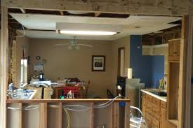 Ceiling Joist Span For Drywall by Kitchens Replace Half A Drywall Ceiling Home Improvement