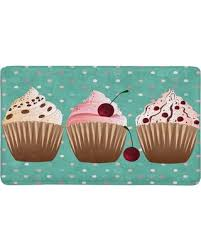 MKHERT Sweet Cupcakes Desserts With Polka Dots Doormat Rug Home Decor Floor Mat Bath 30x18