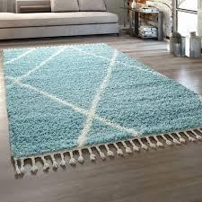 hochflor teppich rauten design