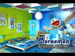 amazing kids room with a doremon theme bedroom cartoon themed