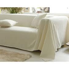 jete de canape boutis plaid ou jeté de canapé piqué de coton becquet ivoire