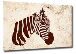 leinwand bild leinwand wohnzimmer bild afrika zebra kunst