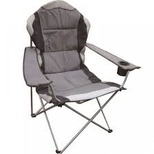 Deluxe Folding Camping Chair Grey Black Foldable Fishing Picnic Beach  Garden Patio Furniture Seat Volkswagen Folding Camping Chair Lweight Portable Padded Seat Cup Holder Travel Carry Bag Officially Licensed Fishing Chairs Ultra Outdoor Hiking Lounger Pnic Rental Simple Mini Stool Quest Elite Surrey Deluxe Sage Max 100kg Beach Patio Recliner Sleeping Comfortable With Modern Butterfly Solid Wood Oztrail Big Boy Camp Outwell Catamarca Black Extra Large Outsunny 86l X 61w 94hcmpink