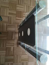 glasregal regal fernseher wohnzimmer aluminium glas wie neu