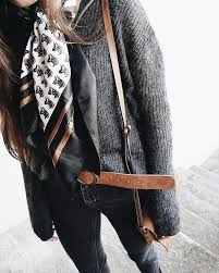 Not The Scarf But Sweater And Belt Are Cute