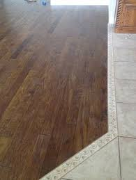 City Tile And Flooring Murfreesboro Tn by Transition From Wood To Tile Flooring Using Contrasting Tile For A