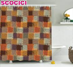 geometric pattern curtains canada gray plaid shower curtain personalized plaid shower curtain