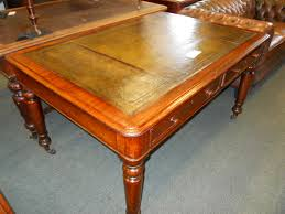 English c1860s Mahogany Partners Desk Writing Table