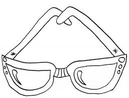 Eyeglasses For Kids Colouring Page Coloring