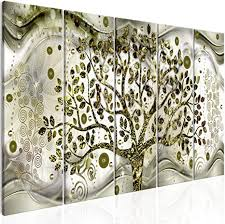 decomonkey bilder gustav klimt abstrakt 200x80 cm 5 teilig leinwandbilder bild auf leinwand wandbild kunstdruck wanddeko wand wohnzimmer