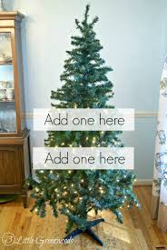 Saran Wrap Christmas Tree For Storage by Update A Fake Christmas Tree For Less Than 10 By 3 Little Greenwoods