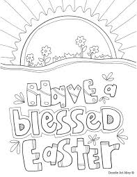 Have A Blessed Easter Coloring Page Free Religious Pages For Preschoolers Bible