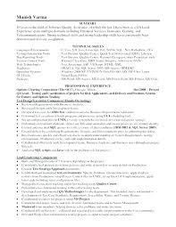 Quality Control Resume Sample Manager Assurance
