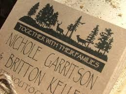 Rustic Wedding Invitation Yosemite Deer By Sweetinvitationco 10000
