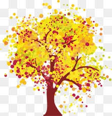 Autumn Tree Trees Hand Painted Autumn Tree PNG Image