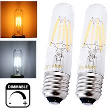 dimmable t10 tubular led filament light bulb e26 vintage edison