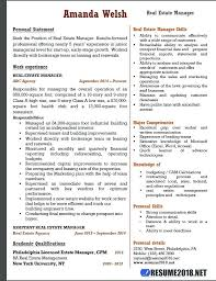 Quality Manager Resume Objective Examples Template For Real Estate Sample 6