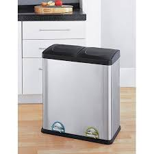 Neu Home 16 Gallon 2 Section Recycle Bin Walmart