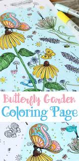 Bring The Magic Of A Butterfly Garden To Life With This Coloring Page For Adults