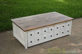 ana white apothecary coffee table with toybox trundle diy projects
