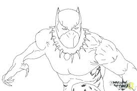 Coloring Panther Page Black Pages Avengers Marvel Captain America Civil War