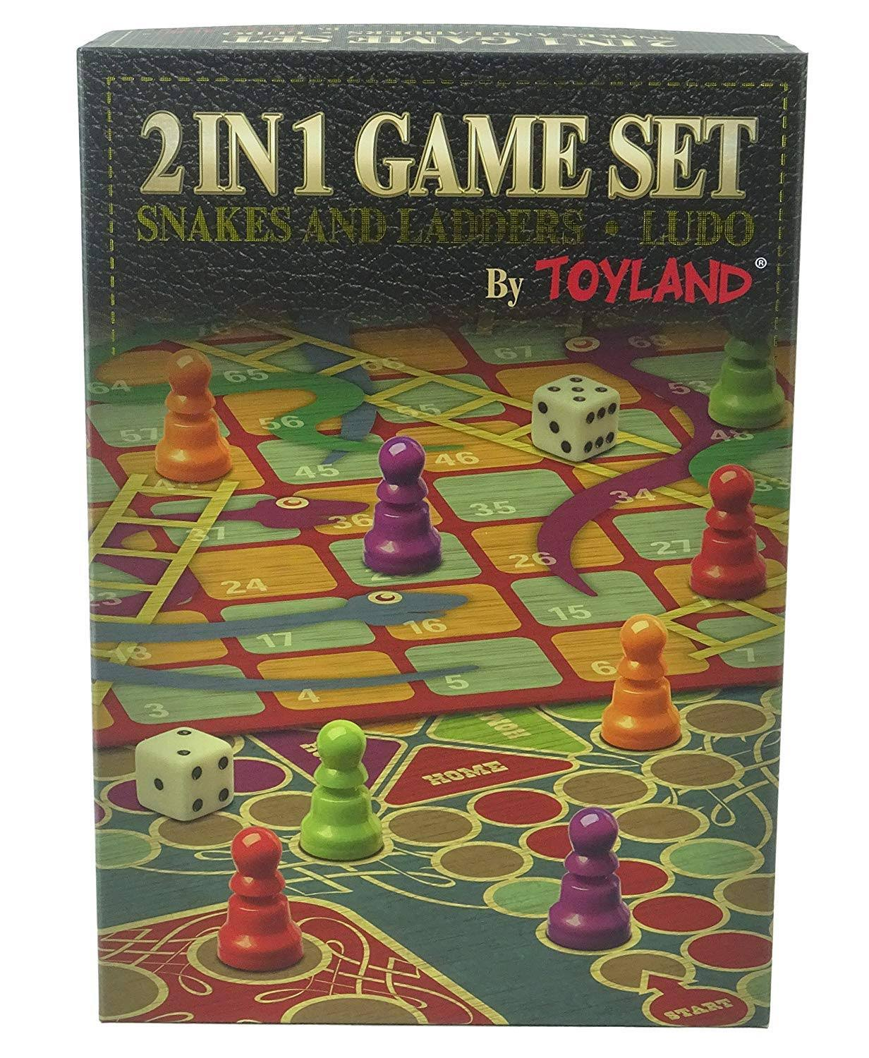 Toyland Snakes and Ladders Board Game Traditional Family Game