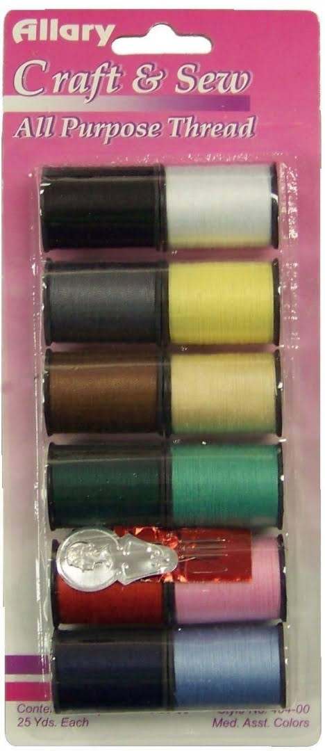 Allary Craft & Sew All Purpose Thread - 12 Spools