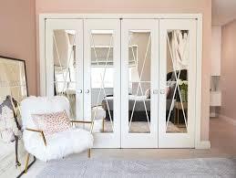 X Trim Mirrored Closet Doors Design Ideas