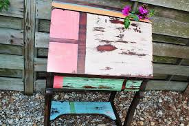 Multi Colored Desk Distressed