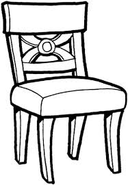 Click To See Printable Version Of Kitchen Chair Coloring Page