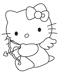 Hello Kitty Valentine Coloring Pages 403